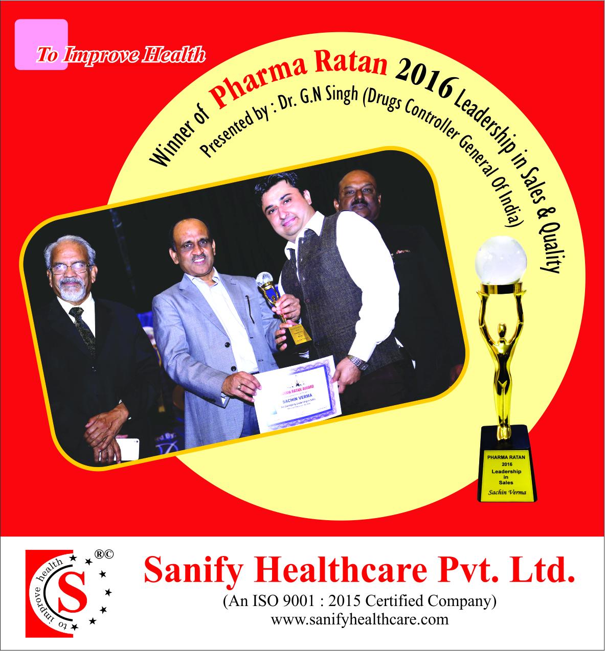 Pharma Ratan Award 2016
